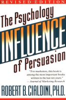 Influence - Robert Cialdini