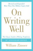 On Writing Well - William Zinsser